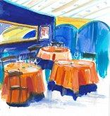 restaurant hall tikar
